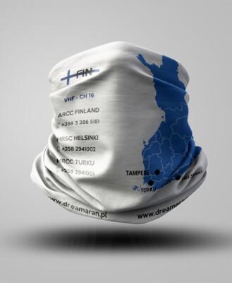 Buff z mapą - Finlandia