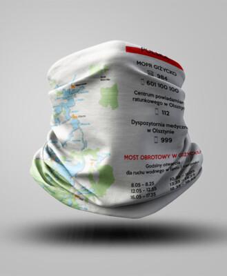 Buff z mapą - Polska-Mazury