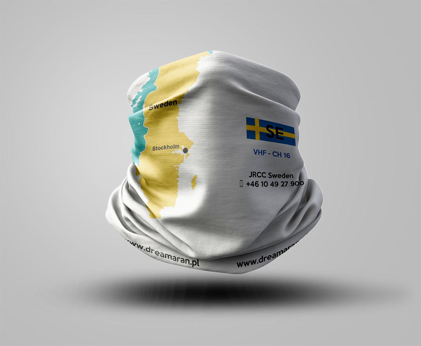 Buff z mapą - Szwecja
