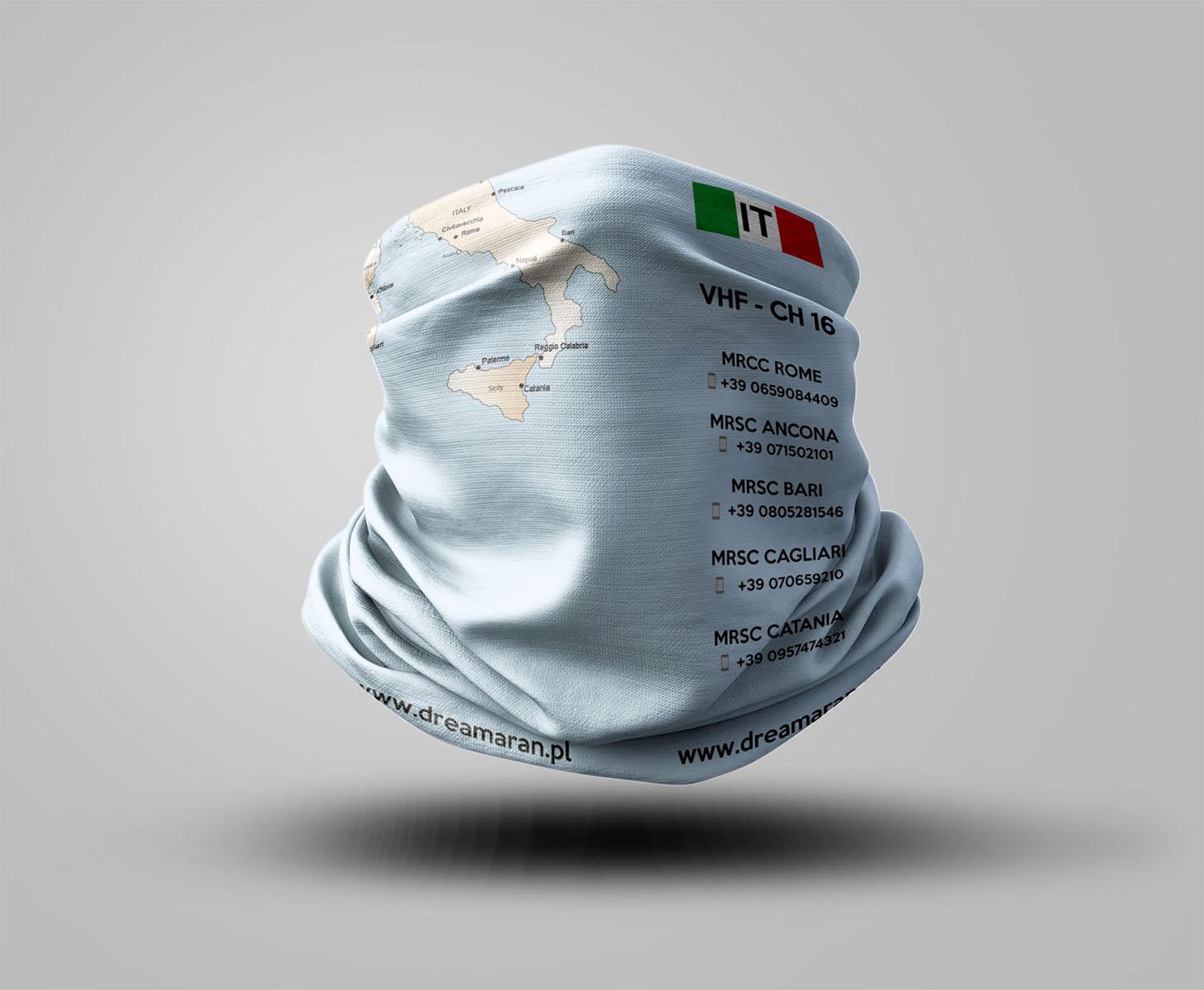 Buff z mapą - Włochy
